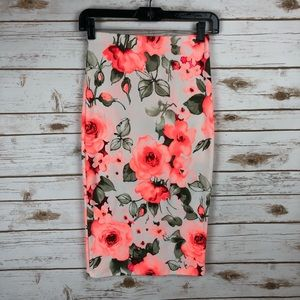 NWT- Love Culture Floral Skirt